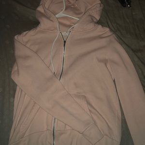 light pink zip up
